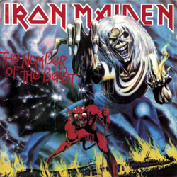 "Iron Maiden - ""The Number of the Beast"" CD cover image - Click to read review"