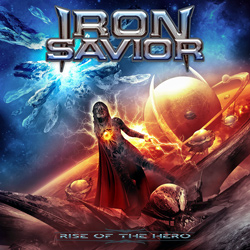 "Iron Savior - ""Rise Of The Hero"" CD cover image"