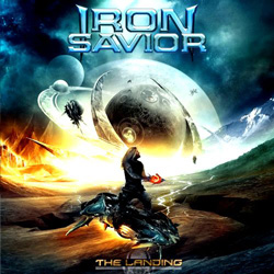 "Iron Savior - ""The Landing"" CD cover image - Click to read review"