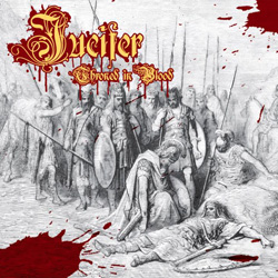 "Jucifer - ""Throned In Blood"" CD cover image"