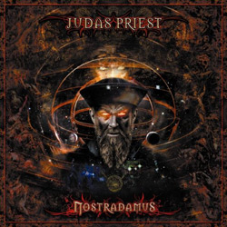 "Judas Priest - ""Nostradamus"" CD cover image - Click to read review"