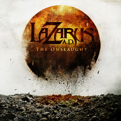 "Lazarus A.D. - ""The Onslaught"" CD cover image"