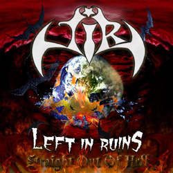 "Left In Ruins - ""Straight Out Of Hell"" CD cover image"