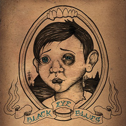 "Lewd Acts - ""Black Eye Blues"" CD cover image"