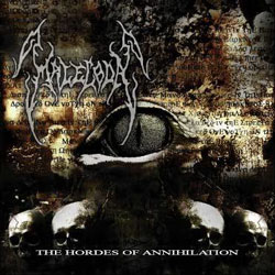 "Malecoda - ""The Hordes of Annihilation"" CD cover image - Click to read review"