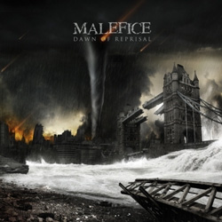 "Malefice - ""Dawn Of Reprisal"" CD cover image - Click to read review"
