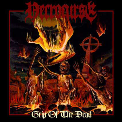 "Necrocurse - ""Grip Of The Dead"" CD cover image"
