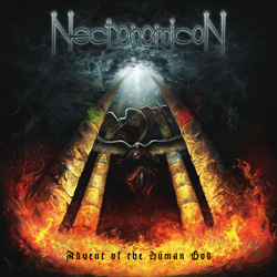 "Necronomicon - ""Advent Of The Human God"" CD cover image - Click to read review"