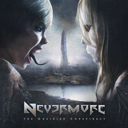 "Nevermore - ""The Obsidian Conspiracy"" CD cover image - Click to read review"