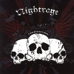 "Nightrage - ""A New Disease Is Born"" CD cover image"