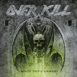 "Overkill - ""White Devil Armory"" CD cover image - Click to read review"