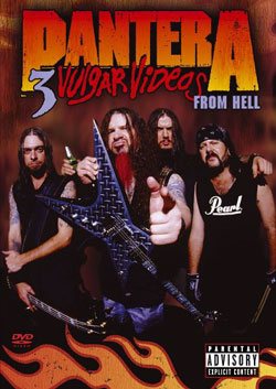 "Pantera - ""3 Vulgar Videos from Hell "" DVD cover image - Click to read review"