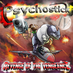 "Psychostick - ""IV: Revenge of The Vengeance"" CD cover image - Click to read review"
