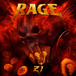 "Rage - ""21"" CD cover image - Click to read review"