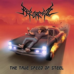 "Razormaze - ""The True Speed Of Steel"" CD cover image - Click to read review"