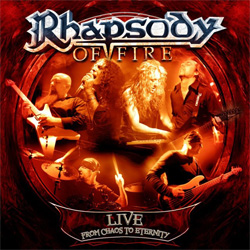 "Rhapsody Of Fire - ""Live - From Chaos to Eternity"" 2-CD Set cover image - Click to read review"
