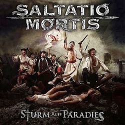 "Saltatio Mortis - ""Storm of Paradise"" CD cover image - Click to read review"