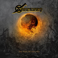 "Sanctuary - ""The Year The Sun Died"" CD cover image - Click to read review"