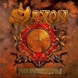 "Saxon - ""Into The Labyrinth"" CD cover image - Click to read review"