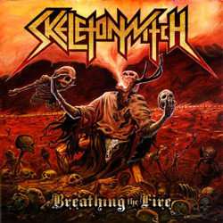 "Skeletonwitch - ""Breathing The Fire"" CD cover image - Click to read review"
