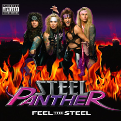 "Steel Panther - ""Feel The Steel"" CD cover image"