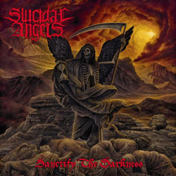 "Suicidal Angels - ""Sanctify The Darkness"" CD cover image - Click to read review"