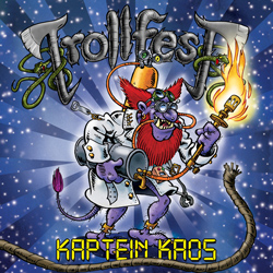 "Trollfest - ""Kaptein Kaos"" CD cover image - Click to read review"
