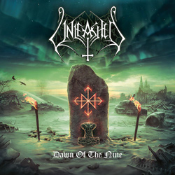 "Unleashed - ""Dawn Of The Nine"" CD cover image - Click to read review"