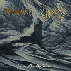 "Drudkh - ""Thousands of Moons Ago / The Gates"" CD cover image"