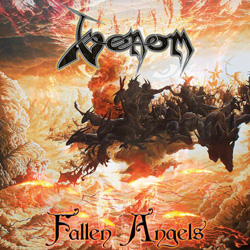 "Venom - ""Fallen Angels"" CD cover image - Click to read review"