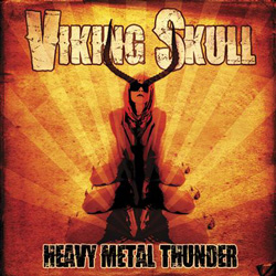 "Viking Skull - ""Heavy Metal Thunder"" CD cover image"