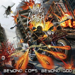 "Waking The Cadaver - ""Beyond Cops. Beyond God."" CD cover image"