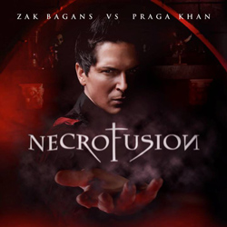 "Zak Bagans vs. Praga Khan  - ""Necrofusion"" CD cover image - Click to read review"