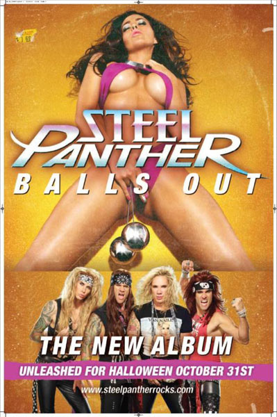 Steel Panther's 'Balls Out' Poster