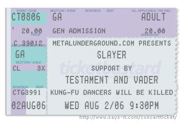 Metalunderground.com ticket stub
