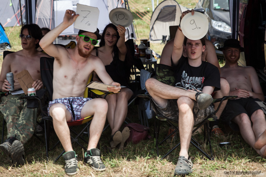 Crowd and Campgrounds @ Metalcamp 2012, Day 1